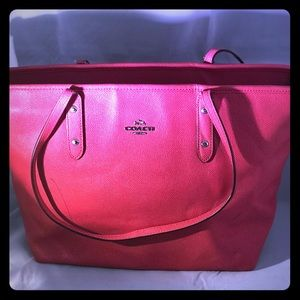 ⬇️$150Coach LargeCity ZipTop Rose Pink LeatherTote